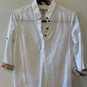Women's Burberry Brit White Oxford Shirt XS